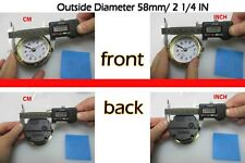 "Gold Rim Quartz Clock Insert Arabic Number White Face Whole Diameter 58mm-2 1/4"""