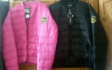 BNWT 90% duck down ladies coat/jacket in black or pink by HAVANA. Sz.M
