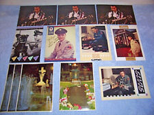 LOT OF 12 ELVIS PRESLEY POSTCARDS FROM THE 1980S-1990S BY RICHARD SOUTHERN