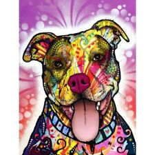 5D Diy Full Drill Diamond Painting Colorful Pet Dog Embroidery Kits Decor Mural