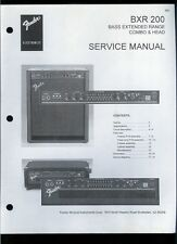 Copy Fender BXR 200 Bass Extended Range Guitar Amplifier Parts List Schematic(s)