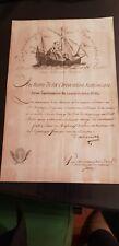 REVOLUTION SUPERBE DOCUMENT SUR LA MARINE DALBARADE CORSAIRE 1795