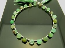 "Natural Chrysoprase Faceted Teardrop Briolette 6mm x 5mm Gemstone Beads 8"" Std."