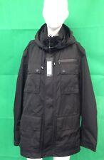 Black Waterproof Breathable Windproof Detachable Hood Medium Coat rrp £119 #830