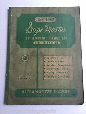 1952 Automotive Digest Dope Master Edition Instructional Information Guide Book