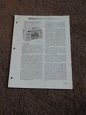 Seeburg Stereo Consolette Sc11 Service Manual Parts List Wiring