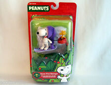 Peanuts Charlie Brown Christmas SNOOPY & WOODSTOCK figures NEW  Snow Fun Snoopy!