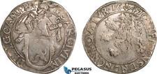 AB388 Netherlands, Kampen, Lion Daalder 1647, Silver Del. 862, Toned XF (Scratch
