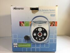 MEMOREX MKS2115 Portable Karaoke System 1 Microphone CD & Graphics Playback