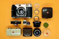 Kodak Retina IIc 2c Kamera • Compur • Xenon C 2.8 50mm • Curtar Xenon C 5.6 35mm