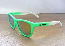 New Oakley Frogskins Sunglasses Green Fade / Custom Polarized 24K Gold Iridium