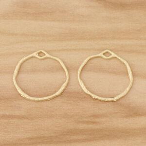20pcs Matte Gold Top Quality Geometric Hollow Open Round Circle Charms Pendants
