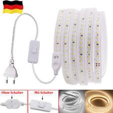 LED Streifen Stripe Wasserdicht Band Leiste 2835 Lichtband Innen Außen 220V 230V