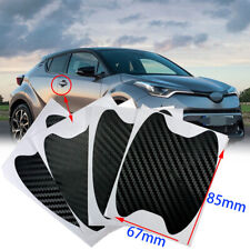 3D Carbon Fiber Black Decal Exterior Door Handle Film Cover Sticker Vinyl Ahm J