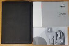 GENUINE NISSAN NOTE HANDBOOK OWNERS MANUAL WALLET 2005-2007 PACK F-394