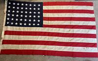 "Vintage ""ORIGINAL"" 48 Star U.S. American Flag Bull-Dog Bunting 4 X 6 FT"