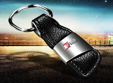 1Pc Leather Key Cover Case Holder Ring Chain Fob For Audi  A3 A4 A5 Q3 Q5 Sline