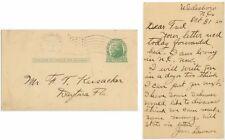 1924 Wadesboro North Carolina postal card flag cancel - James Lawson