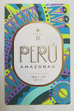 Starbucks Coffee Reserve Taster Card Mint - PERU AMAZONAS 2014