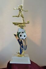 13' Female Sport Riser Soccer Trophy Free Engraving