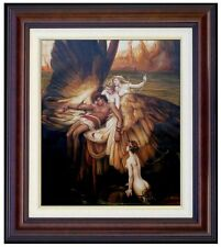 Framed Herbert Draper Lament For Icarus Repro Hand Painted Oil Painting 20x24in