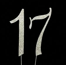 Large 17th Birthday Number Cake Topper Sparkling Rhinestone Crystals