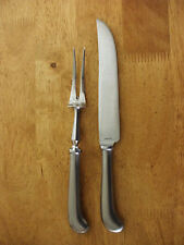 COOPER BROS ENGLAND Stainless QUEEN ANNE Satin 2 Pc STEAK CARVING SET VG     583