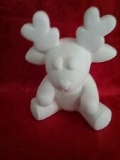 Ready to Paint Ceramic Bisque Reindeer, unpainted; U-paint
