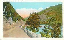Cascade Lake Drive Lake Placid New York Color Unposted Postcard 132354