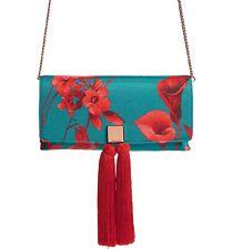 New Ted Baker Darlee Fantasia Tassel Bag Turquoise
