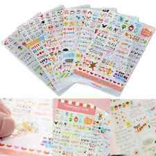 6PCS Word Expression Calendar Paper Sticker Scrapbook Calendar Diary Decor DIY