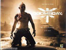 Doomsday 2008 Movie 2007 Comic Con Advertising Version Book Quarantine Scotland