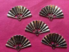 Tibetan Silver Fan Charm -5 per pack