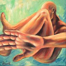 Jannys ART - Mann - Modern Art Painting Akt Kunst Acryl auf Leinwand