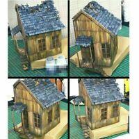 1:35 Holzhaus Kits Diorama Szene Militär Sand Tisch Gebäude Ruinen Haus Modell