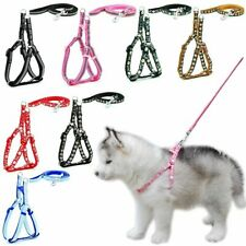 Dog Cat Harness Leash Adjustable Reflective Leash Collar Cat Small Dog Outdoor