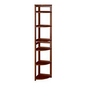 "Flip Flop 67"" High Corner Folding Bookcase- Cherry"