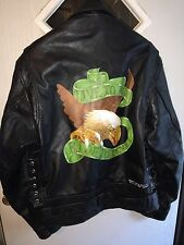 Mens custom motorcycle leather jacket