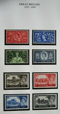 1266-20 Great Britain 8 Mnh/Unused Hinged 1953-1959 Issue Vintage Stamps