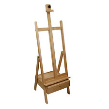 US Art Supply 85 Inch Studio H-Frame Wood Easel with Storage Drawer