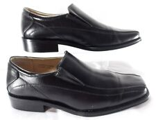 Majestic Men's Shoes BLACK Size 7.5 M Classic Casual Dress Loafers Square Toe