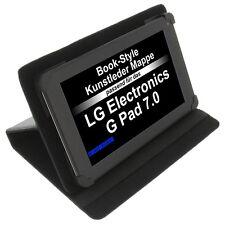Funda para LG G Pad 7.0 LIBRO - Estilo Tableta FUNDA PROTECTORA Stand Negro
