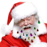 24pc Beard Bell Ornaments Funny Facial Hair Baubles Clips Decor Christmas Gift