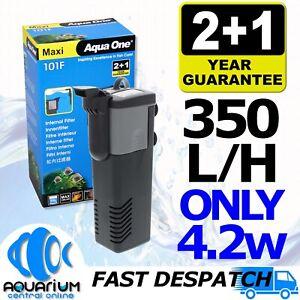 Aqua One Maxi 101F Internal Power Filter 350L/H 4.2W Clean Aquarium Fish Tank