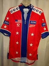EDS Coca-Cola Quarter Zip SS Cycling Jersey Red/Wht/Blue Adult (XL) nwot