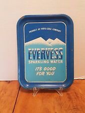 Antique Evervess Sparkling Water Pepsi Cola Serving tray Advertising 13 3/4""