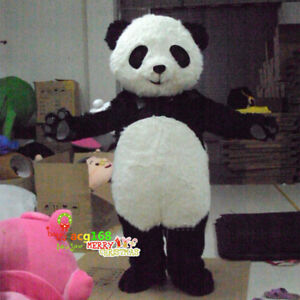 ADS Panda Bear Mascot Costume Animal Cosplay Halloween Adult Outfit Dress Parade