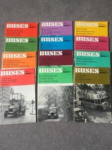 Buses Illustrated Magazine Nos. 226 - 236 JANUARY to DECEMBER 1974 - Ian Allan