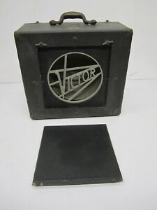 Vtg 1940s Victor Animatograph 16mm Projector Speaker Only Case Guitar Amp As Is