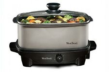 WEST BEND SLOW COOKER 5-Quart Oblong-Shaped Kitchen Appliance Homemade Meals NEW